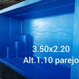 Piscina Rectangular 3,5 x 2,2 Prof. 1,1